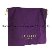 Promocionais personalizado roxo algodão flanela sapato pó saco