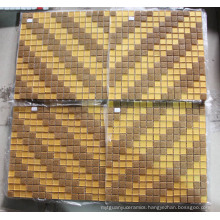 Gold Mosaic Decoration, Art Mosaic Pattern Wall Tile (HMP859)