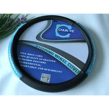 Acrylic massaging grip pu steering wheel cover