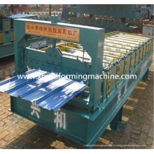 Máquina formadora de paneles de techo de tejas