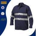 100 % coton hommes Long manches haute visibilité sécurité travail