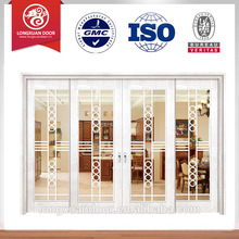 Portes d'entrée principale porte en bois massif HDF portes portes double portes en bois à double entrée