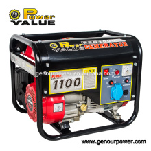 Power Value 1KW 1500 generador de gasolina con CE