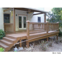 Delantera de la plataforma de WPC de la plataforma de la casa / columna de la balaustrada de madera