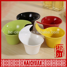 Ceramic color square bakeware snack bowl bread holder salad bowl cake bakeware