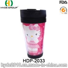 18oz Double Wall Cartoon Cute Plastic Coffee Cup (HDP-2033)