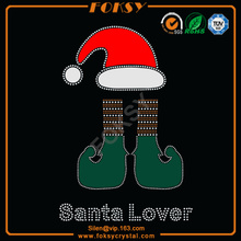 Santa Lover Christmas Hat Shoes atacado t shirt transferências