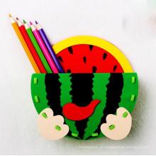 Fábrica de bloco de construção inteligente caneta lápis artesanal pote educação básica do pacote de caixa de presente inglês de história de brinquedo crianças