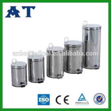 Stainless Steel Recycled Dustbin With Two Inner Buckets