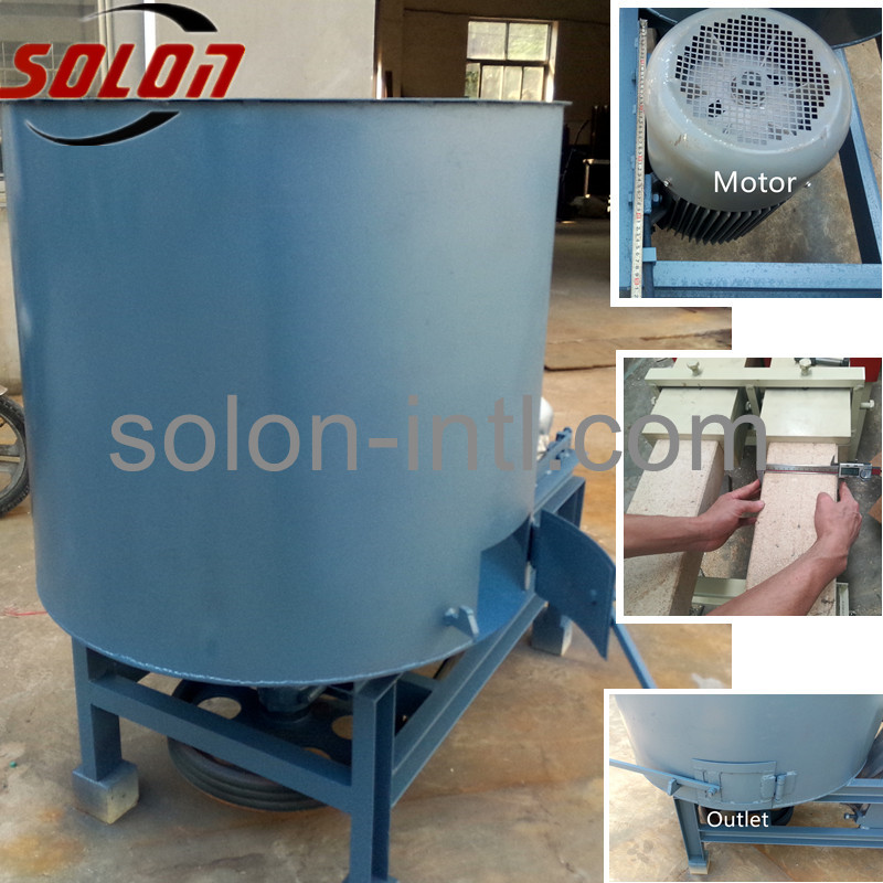 Press Wood Pallet Production Line Sawdust Glue Mixer