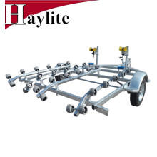 Hot Dip galvanized light duty Double watercraft PWC trailer with rollers