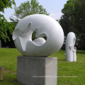 Outdoor garden hand carved abstract marble modern stone sculpture for sale