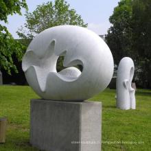 Jardin extérieur sculpté à la main abstraite en marbre moderne sculpture en pierre à vendre