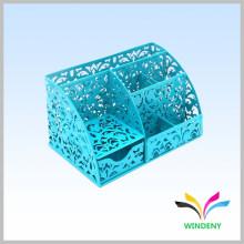 Синий 6 отсеков металлической сетки офисный стол организатор с ящиком