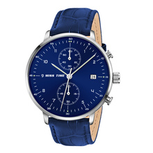 Minimalista estilo Chronograph multifuncional mens quartz watch