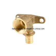 Brass Wall Plated Elbow for Pex Pipe/Elbow (PEX-016)