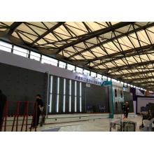 Línea de producción de vidrio doble para llenado de gas argón