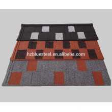 Jump Color Double couleur Flat Stone Coated Roof Tile, Jump Color Toile en bois Toiture