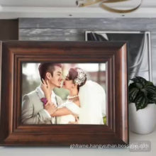 wood line surface photo frame for decorative wall