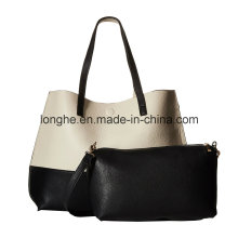 Chic and Dramatic Style Color Block Design Ladies Tote Bag (ZXS0118)