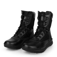 Good Quality Black Leather Police Combat Boots Army Boots (2007)