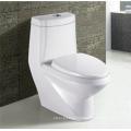 Bathroom Ceramic S-Trap P-Trap Washdown One-Piece Toilet Bowl in White Color