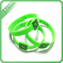 Promotional Gift Silicon Bracelet with Printing Qr Code (HN-WD-036)