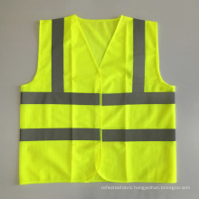 ANSI107 yellow Mesh cheap motocycle safety vest with standard reflective tape