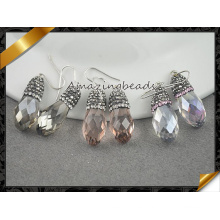 Pendientes de cristal austríacos del pendiente de plata 925 de la gota de la joyería de la manera de la joyería de lujo (FE078)