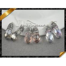 Luxury Fashion Jewelry Drop Glass Sterling 925 Silver Earring Austrian Crystal Earrings (FE078)