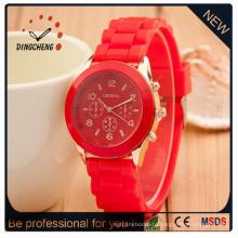 Изготовленный на заказ Вахта Студня силикона часы, симпатичные конфеты часы (ДЦ-351)