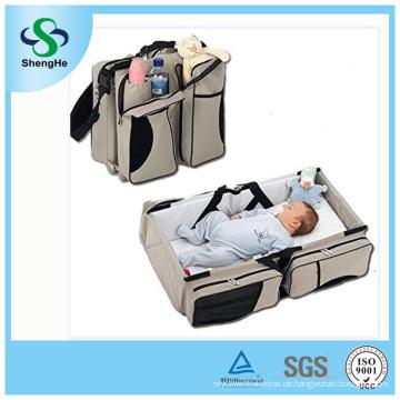 3 in 1 Baby-Windel-Beutel-Bett-Windel-Säuglings-tragender Cot-beweglicher Änderungs-Tisch Portacrib-Jungen-Mädchen-Bestes