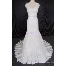 Elegantes Schatz-trägerloses bördelndes Brautkleid