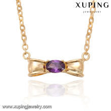 41928-new york fantaisie bijoux collier en pierre de quartz en or 18 carats