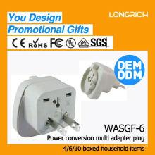 Productos de calidad hight toma de corriente de 3 vías, ce rohs aprobado sobrecarga proteger socket