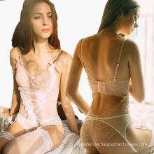 Sweety Mujer Encaje Babydoll Bowknot Nightwear Strap-Cruz Lingerie Sexy