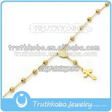 3mm Chapelet Vierge Marie Bracelet Religieux Fait Main Bracelet avec Breloque Perle