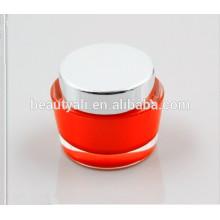 new style oval acrylic cosmetic jar 15ml 30ml 50ml