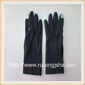 ladies'fleece touching screen Gloves with fleece lining