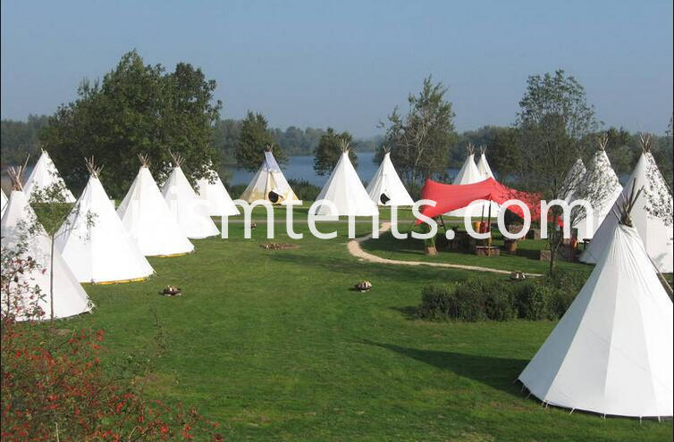 Tepee tents outdoor
