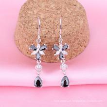 grosso moda jóias coloridas cristais brinco ganchos Ródio banhado a jóia é sua boa escolha