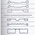 T barra del panel del cuerpo del carro que forma la máquina