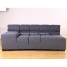 Réplica do sofá do tempo de Tufty da tela cinzenta secional modular