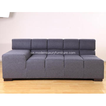 Modular Sectional Grey Fabric Tufty Time Soffa Replica