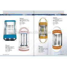 Ascensor con cabina de cristal