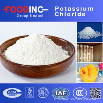 Chlorure de potassium de prix d'usine de grande pureté (KCl)