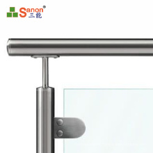 foshan factory High Quality Stainless Steel Glass Clamp For raliling Handrail D Shape Glass clip