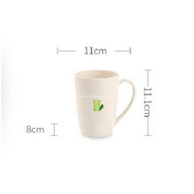Vaso de plástico de fibra de bambú para café de agua