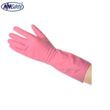 NMSAFETY longue brassard lavage domestique utilisent des gants en caoutchouc latex rose
