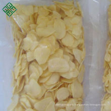 Bag packed white ad dried dehydrated chopped garlic flakes sale